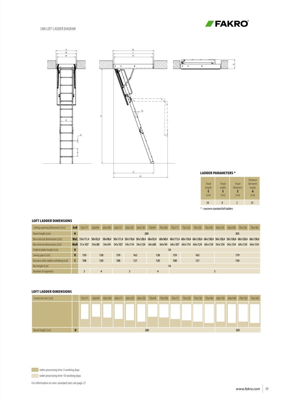 Fakro Lwk Ahşap Çatı Merdivenleri6